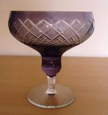 Kristallglas in Violett mit Schliffdekor (#7)