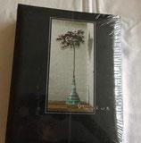 Fotoalbum - Einsteckalbum - schwarz mit Blumenhochstamm - KPH Heisler