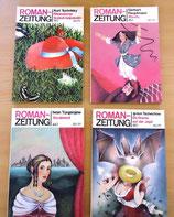 4er Set Roman-Zeitung – Verlag Volk und Welt Berlin – 80er Jahre