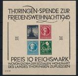 Sowjetische Zone- 1946- Thüringen Weihnachtsblock ohne Durchstich, Michel Block 2 S (I)