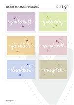 Set mit Wort-Wunder-Postkarten