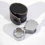 Juwelier Lupe 10 x 21 mm mit Lederetui