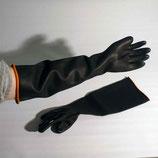 Schwarze Stulpenhandschuhe Länge: 31 cm