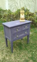 Commode artisanale 3 tiroirs en bois peint