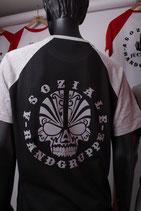 Orginal Shirt Asoziale Rangruppe (Schädel grau)