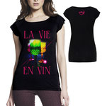 "T-Shirt ""La Vie En Vin"" Girlie Shirt"