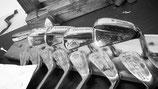 JBL Hickory Eisen Set  für GENIESSER, RH und LH inklusive  PUTTER !