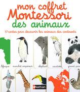 Mon coffret Montessori des animaux : 60 cartes classifiées pour découvrir les animaux des continents