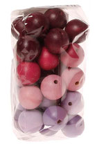 Perles rose/mauve taille moyenne x 30 - GRIMM'S