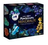 Mon coffret Montessori des minéraux avec 2 pierres véritables