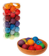 Perles colorées gde taille 36 pièces et lacets - Grimm's