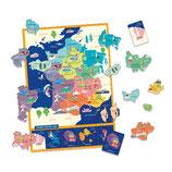Ma première pochette d'aimants : carte de France