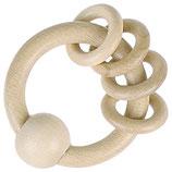 Hochet 4 anneaux naturel
