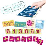 Les fiches tactiles sur les nombres et pré-écriture