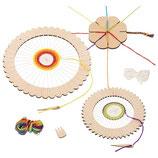 Kit créatif métier à tisser rond et fleur à tricoter