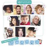 """Puzzles """"les 10 émotions"""""""