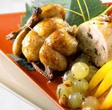 V261 - Cailles farcies au foie gras raisins et balsamique