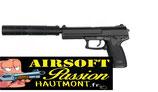 Pistolet HK MK23 + SILENCIEUX ASG GAZ