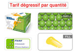 Carton de 2000 TOROBALL FIELD 0.68 GREEN / YELLOW