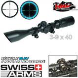 Lunette 3-9X40 réticule bleu SWISS ARMS