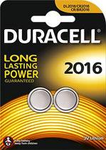 Piles CR2016 3 volts - Duracell