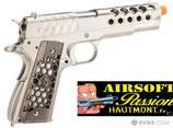 M1911 HEX CUT - GBB, FULL METAL, GEN.2 - SILVER