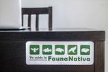 """Calcomanías """" Yo cuido la fauna nativa"""""""