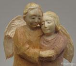 Ангелочки - статуэтка - подсвечник резной деревянный.