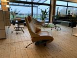 WK Relaxsessel mit Liegefläche Leder und Alcantra