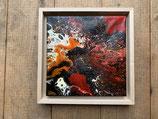 Acrylbild Feuer Nr. 003 auf Leinwand ca. 25 x 25  D. Black Einzelstück / Original