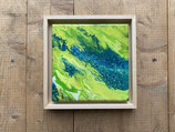 Acrylbild Aqua 001 auf Leinwand ca. 25 x 25  D. Black Einzelstück / Original