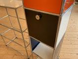Klapptür 35 x 35 für das USM Haller System inkl. Schlosskasten/Riegel und Anschlagschnäpper in graphitschwarz RAL 9011