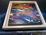 Acrylbild Feuer Nr. 002 auf Leinwand ca. 25 x 25  D. Black Einzelstück / Original