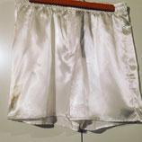 Boxer en satin blanc pour homme