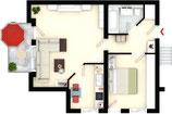 Grundriss Immoplan Immogrundriss Immografik 2D Plan bis 100 m²
