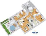 3D Immobilien Immoplan Grundrissgrafik Grundrissoptimierung Grundriss bis 100 m²