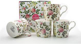 Heritage Butterfly Rose Set of 4 Mugs