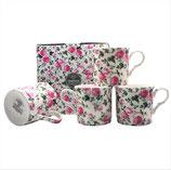 Heritage Ivy Rose Set of 4 Mugs