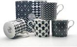 Heritage Shades of Black Set of 4 Mugs