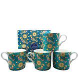 Heritage Oriental Birds Set of 4 Mugs