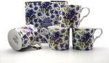 Heritage Summer Pansy Set of 4 Mugs