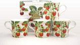Heritage Strawberries Set of 4 Mugs