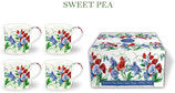 Heritage Sweet Pea Set of 4 Mugs