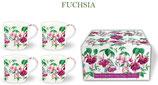 Heritage Fuchsia Set of 4 Mugs