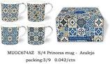 Heritage Azulejo Set of 4 Mugs