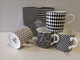 Heritage Shade of Grey Set of 4 Mugs