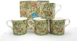 Heritage Golden Lilies Set of 4 Mugs