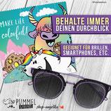 Pummel & Friends - Brillenputztuch - Buntbison & Pummel