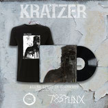 "KRATZER - Alles Liegt In Scherben LP & Split 12"" w/ Kvazar & Shirt BUNDLE"