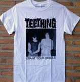 TEETHING - I Want Your Skulls (White) T-shirt - L